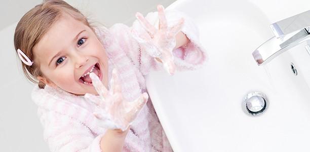 make your child wash hands